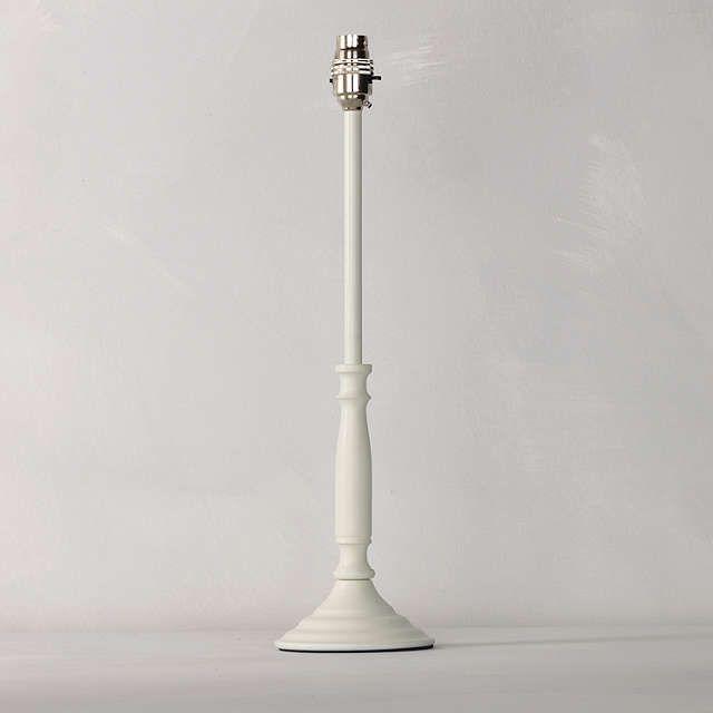 BuyJohn Lewis Candlestick Lamp Base, White, Medium Online at johnlewis.com