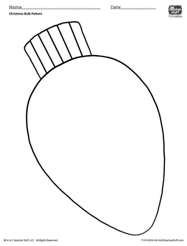 Excellent Image Of Light Bulb Coloring Page Entitlementtrap Com Christmas Ornament Template Christmas Coloring Sheets Free Christmas Printables