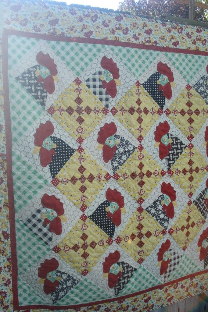 17 Best Images About Chicken Quilts On Pinterest Free