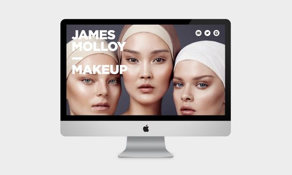James Mollow Makeup website