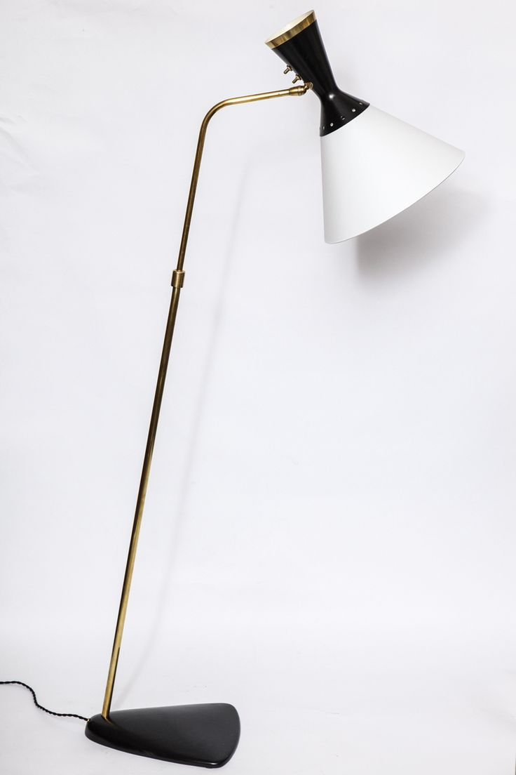 Pair of floor lamps produced by falkenbergs belysning ab in sweden at - 1950s French Articulated Floor Lamp By Boris Lacroix