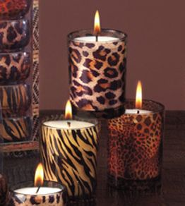 Animal Print Votives