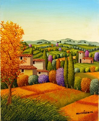 View of Tuscany by Cesare Marchesini ( Italy )