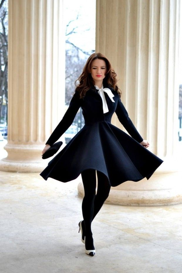 20 Stylish Outfits with Dresses for Cold Days - Style Motivation