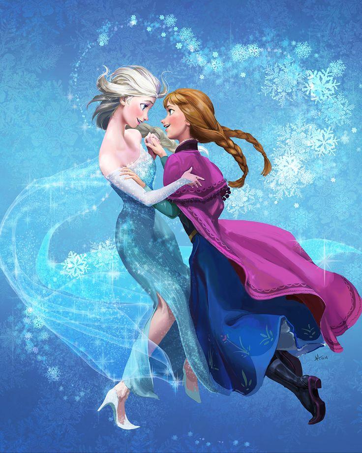 Elsa and Anna by onibox.deviantart.com on @DeviantArt