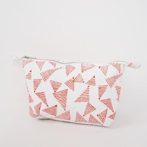 POUCH by TIKAU (Small, red/white triangle)