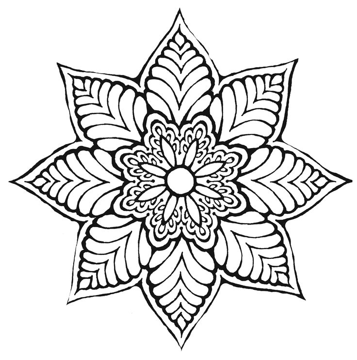 cool flower pattern coloring pages - photo#17