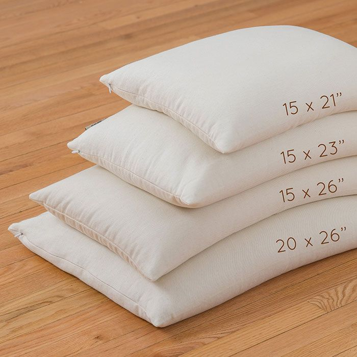 Buckwheat Pillow for side sleeper, Made in USA - ComfySleep #sleep #bed #sleepbetter