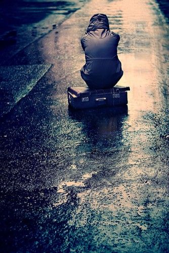 """""""I always like walking in the rain, so no one can see me crying."""""""
