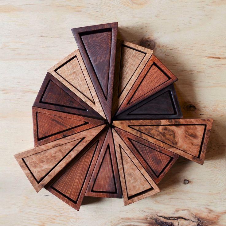 Isosceles boxes. Minimalist design showcasing beautiful figured Australian timbers