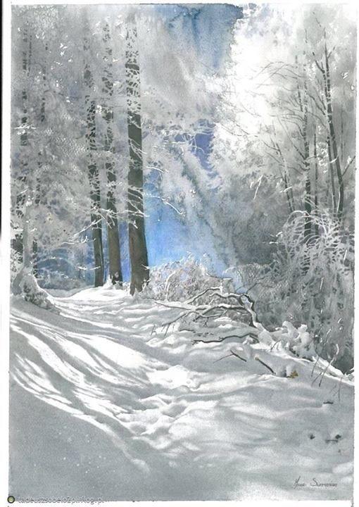 WATERCOLOR _ Michal Suffczynski #watercolor jd