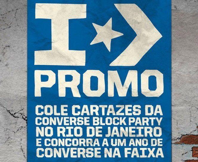 A Converse Block Party vai rolar no Rio de Janeiro, dia 29 de maio. O evento trás nomes comoCone Crew Diretoria,Dj Zegon,BNegão e vários tipos de representações da cultura urbana. E para ganhar 12 pares de Converse, 1 por mês, durante 1 ano,você tem que acessar o site da promoção e colar os cartazes numa ferramenta utilizando oGoogle Street View. Os6 melhores artistas ganham: As 6 melhores colagens ganham prêmios: 1º colocado – Kit com 12 pares de tênis das linhas Sport Authentics…