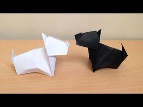 折り紙の犬 テリア 簡単な折り方 Origami Dog terrier - YouTube