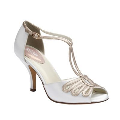Pink by Paradox London Ivory satin t-bar sandal ' Scent'- at Debenhams.com  Bit expensive though!