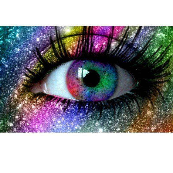 5d Diy Diamond Painting Colors Fluorescent Eyes Full Square