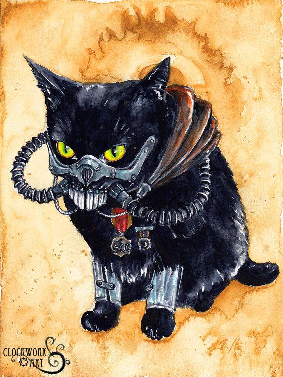 Immortan Diesel: Fine Art Watercolour Black by ClockworkArtShop
