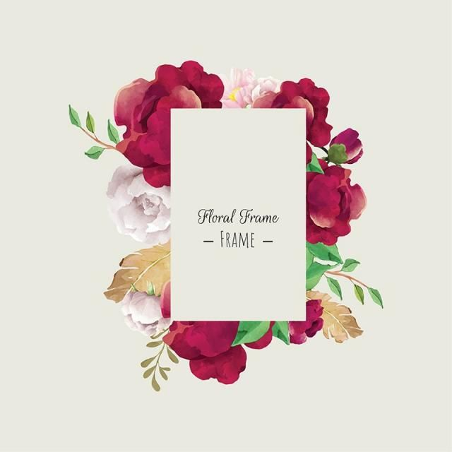Watercolor Floral Frame Painted Watercolor Png And Vector With