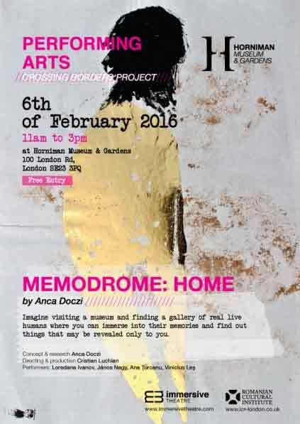 'Memodrome: Home', the Spectacle of Memory (Romanians living in London)