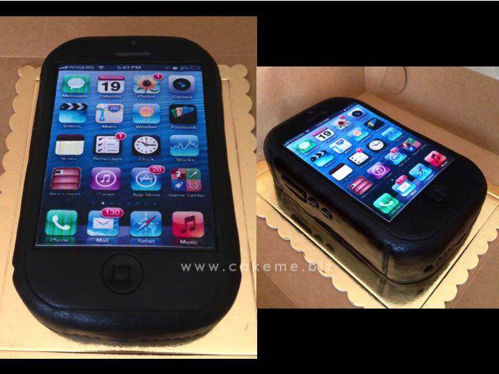 El iPhone que hice para el hijo adolescente de mi amiga Elsa Jaimes. Sabor, chocolate.