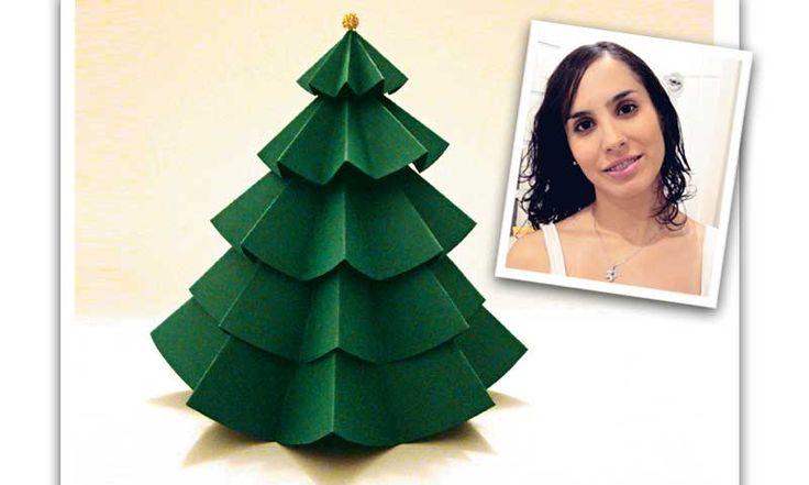 Árvore de Natal de papel: faça você mesma! - Casa - MdeMulher - Ed. Abril