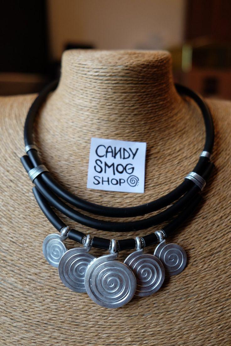 collana spiralosa / spiral necklace di CandySmogShop su Etsy