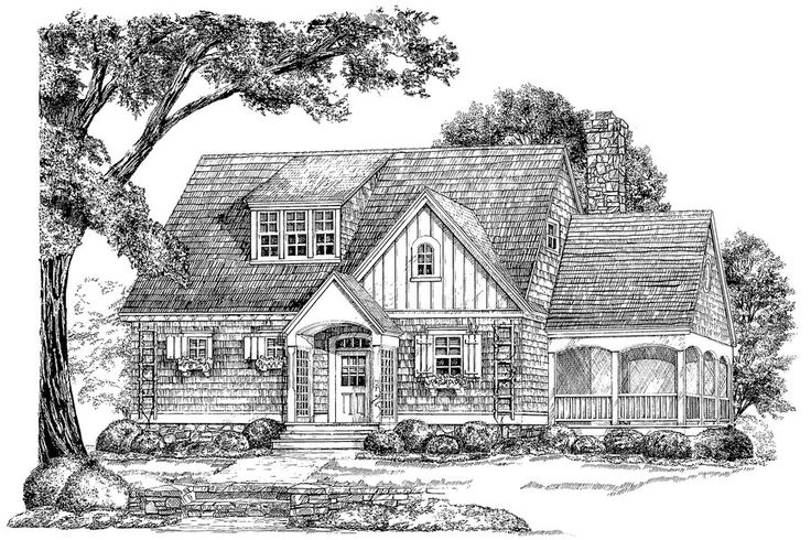 The sage houseplan 947 18 small house plans gardens for Simple roofline house plans