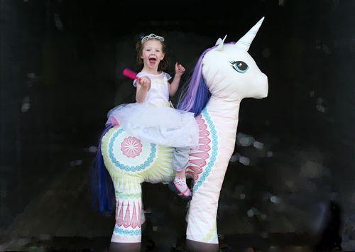 How to make a giant stuffed unicorn. @ Vicki Anderson