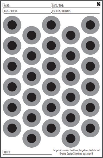 graphic regarding Printable Shooting Targets 11x17 named 11x17 Dot Aim through Phase N Plans4Free of charge No cost Printable