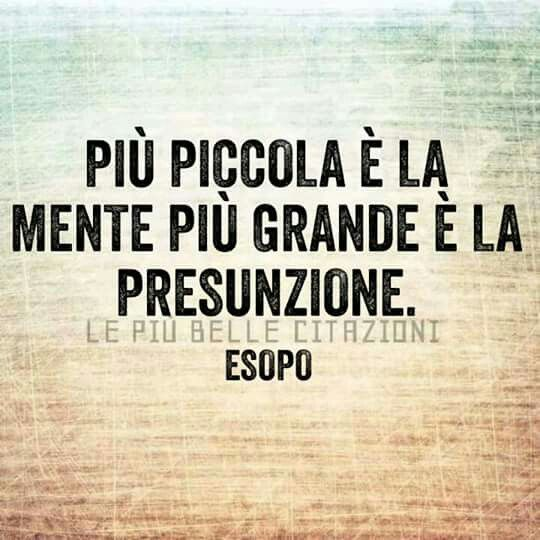 ****The smaller the mind the greater the presumption (Esopo)