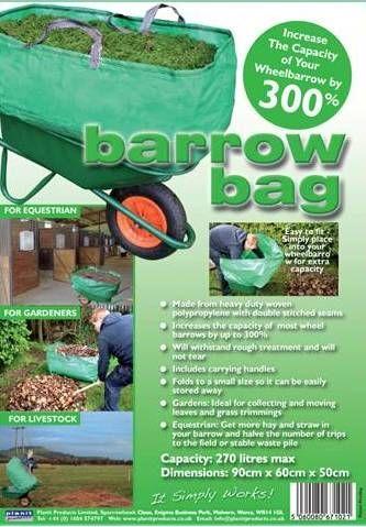 Barrow Bag Triple the capacity of your wheelbarrow Made from heavy duty…