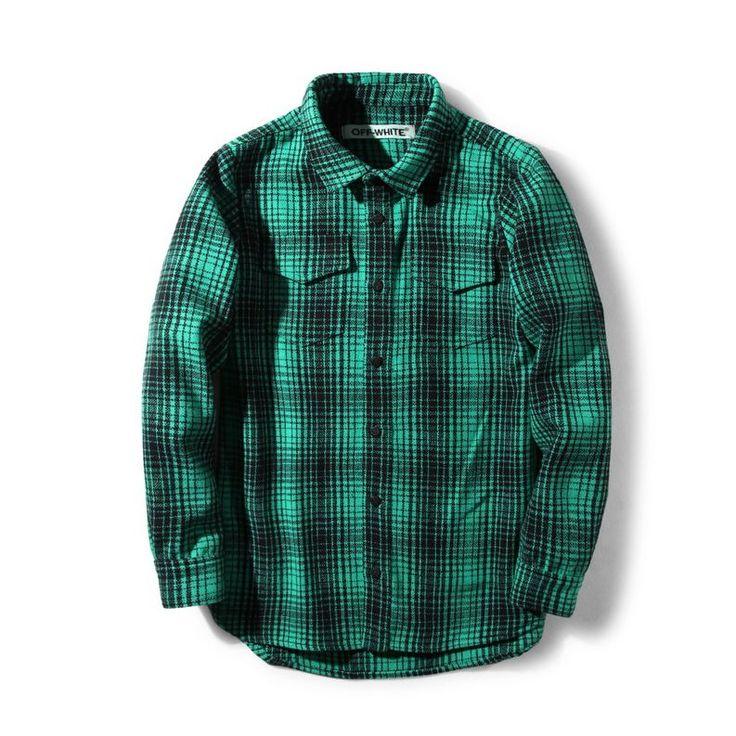 This Flannel Shirt from OFF-White clothing features a classic design with a distinct modern edge. It also comes in different colors. Check out more at shopurl.com #OFFWhite #OFFWhiteClothing