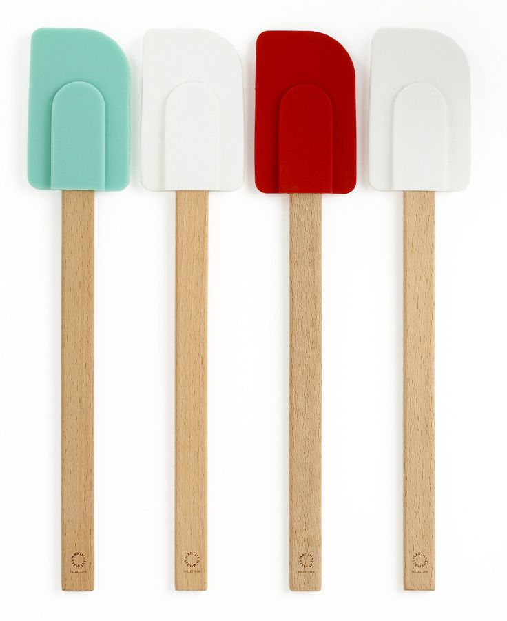 Martha Stewart Collection set of 4 silicone head spatulas — whether it's cake batter or ice cream mix, swipe up every last bit