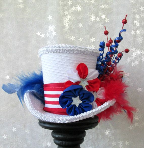 Patriotic mini top hat