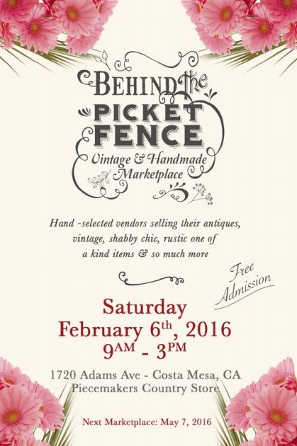 Marketplace February In Costa Mesa Over 65 Vendors Selling Shabby Chic Vintage Re Purposed Rustic Home Decor And Handmade Items Adams Ave