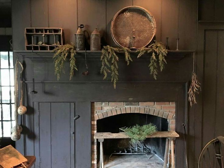 396 Best Images About Early American Fireplace On Pinterest Mantels Colonial Kitchen And Primitive Fireplace Primitive Decorating Country Primitive Mantels