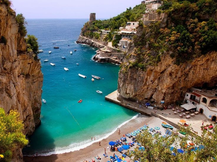 PRAIANO Also on the Amalfi Coast, the town of Praiano (close to Positano), boasts beautiful beaches like Marina di Praia and Gavitella, and culture to boot. Think stunning ancient churches, towers, and sacred sculptures.
