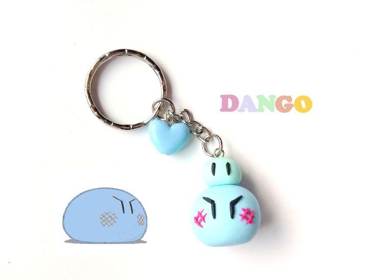 Blue Dango Keychain, Clannad Anime Polymer Clay Charm, Kawaii Keychain, Anime Key Ring, Cute Clay Dango, Geekery, Dango Daikazoku, Cosplay by CreaBia on Etsy https://www.etsy.com/listing/255926606/blue-dango-keychain-clannad-anime