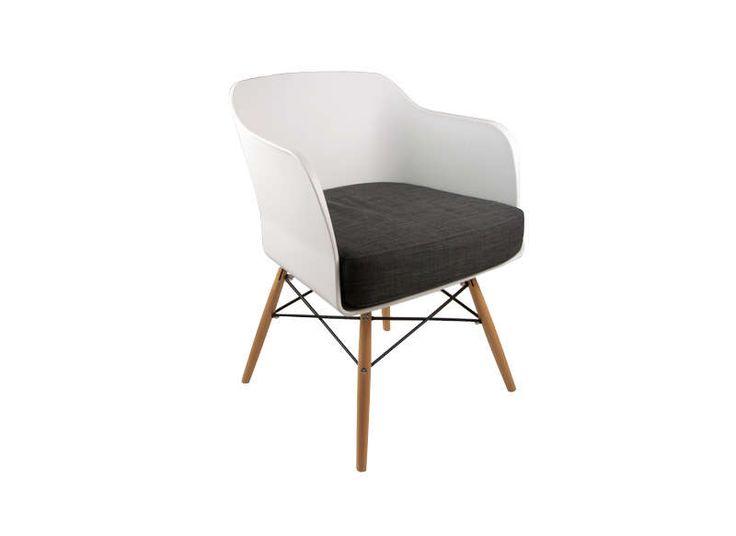 Chaise scandinave avec coussin Blanc ALWA