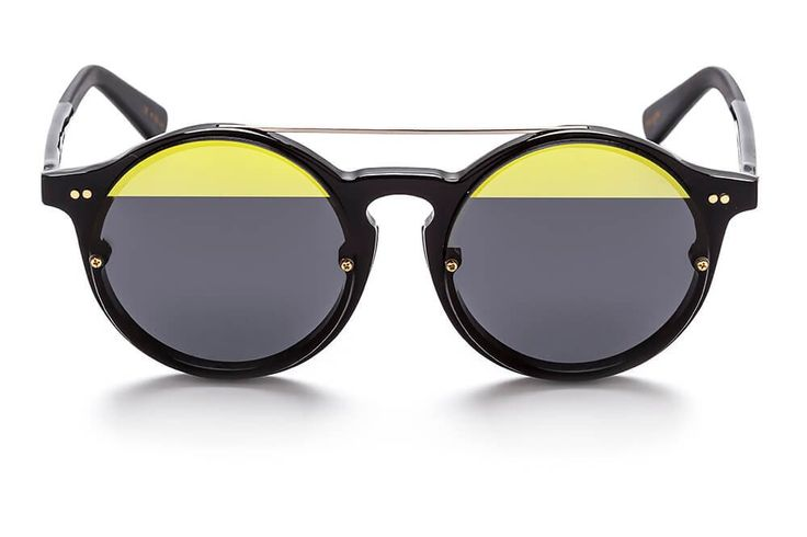 MATAHARI DUA Black/Gold Round sunglasses from SUNDAY SOMEWHERE