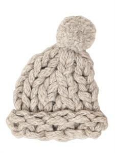 heavy loose knit hat.