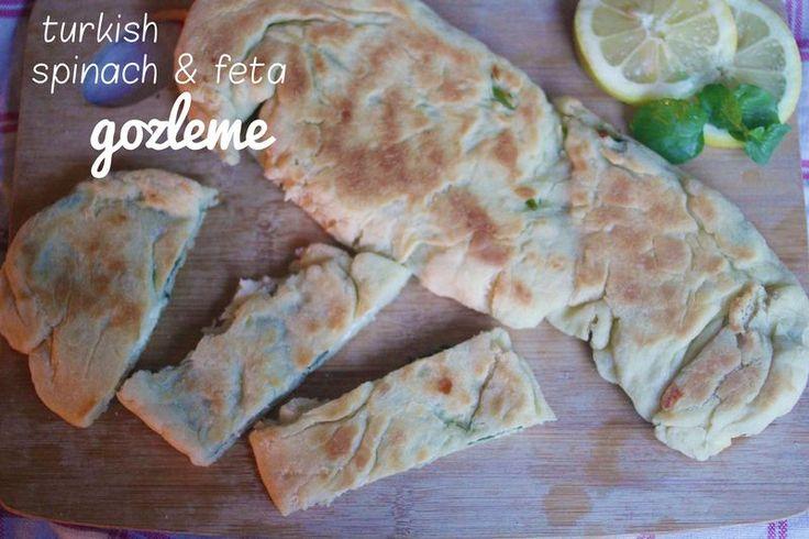 turkish spinach and feta gozleme