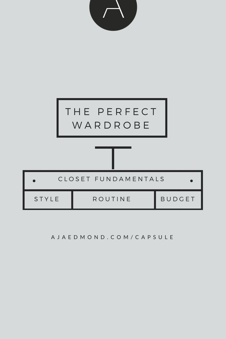 The Fundamentals of a Perfect Closet. Streamline Your Style with the Capsule Wardrobe at ajaedmond.com/capsule