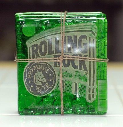 Rolling Rock Beer Coasters - so neato!