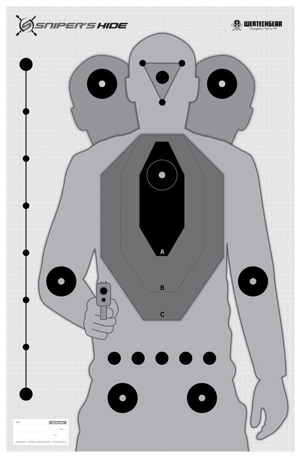 Printable hostage shooting targets
