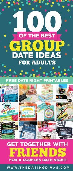 Wowzer! 100 Group Date Ideas {with FREE date night printables}! I am so EXCITED to invite over our favorite couples to try these out! No more boring date nights! www.TheDatingDivas.com