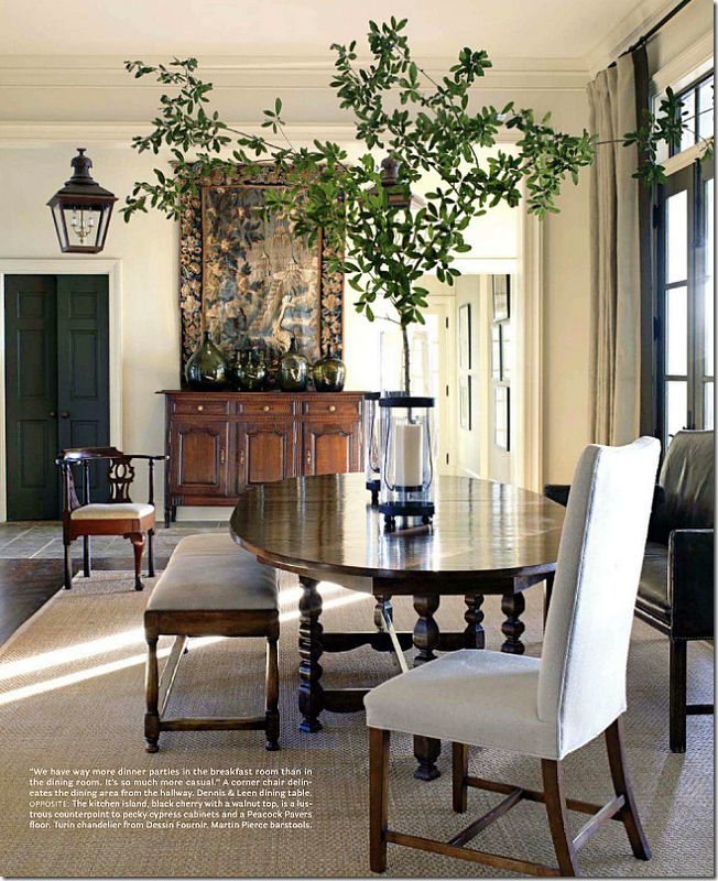 Table & Bench - I want a similar look for my Dinning Room with a High Back Settee!