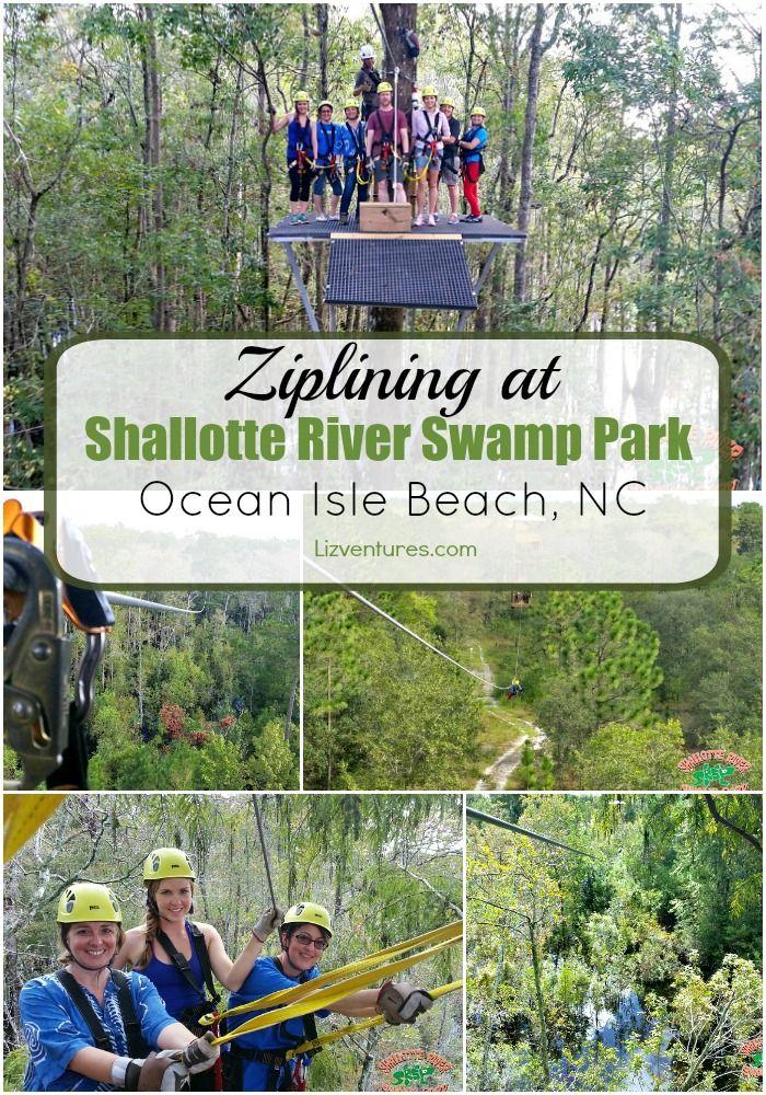 ziplining Shallotte River Swamp Park - Ocean Isle Beach, NC