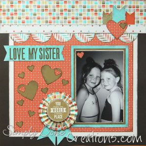 example 3 of Layout 172 Beauty - one of my faves - Retro Fresh DSP and love hearts