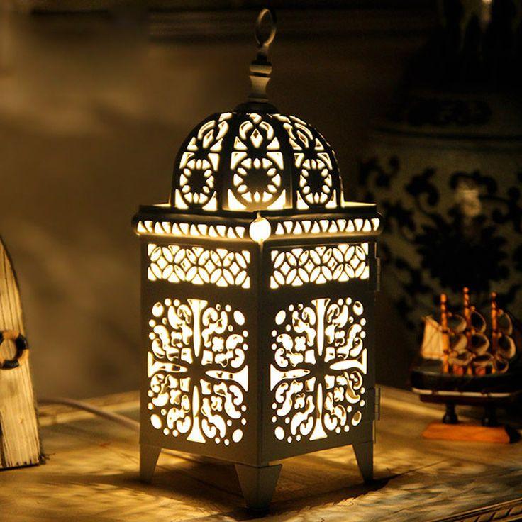 Купить товарМарокканский у кровати настольные лампы металл выдалбливают…