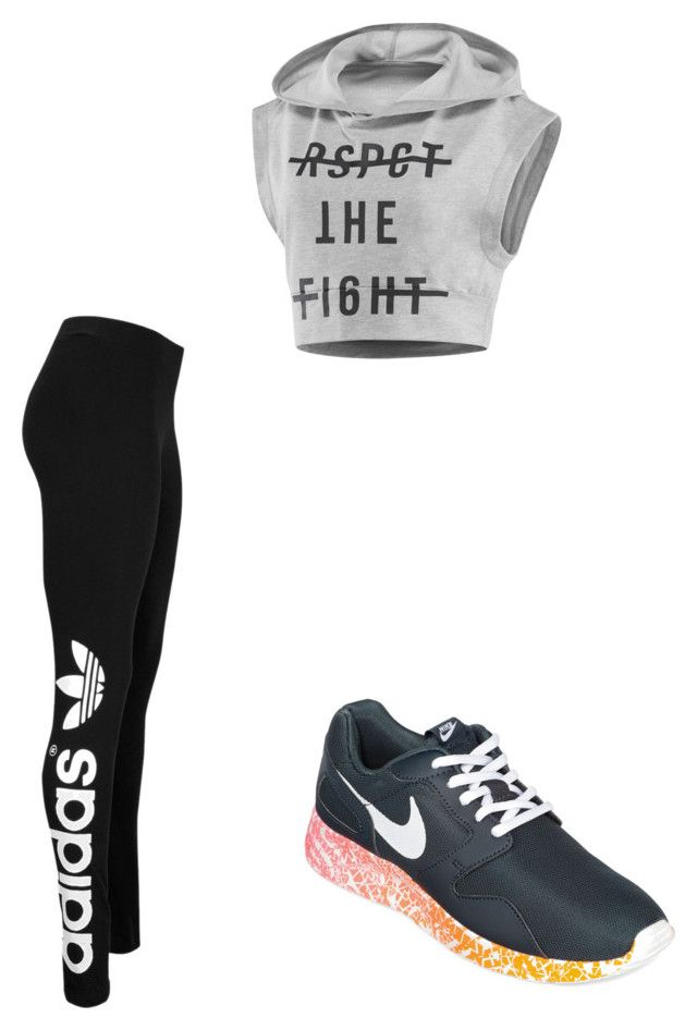 exercising by slayyeettia on Polyvore featuring polyvore fashion style Reebok adidas Originals NIKE
